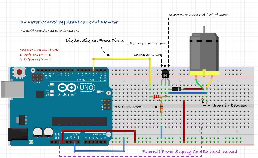 Arduino 3V Motor Control Speed Variation