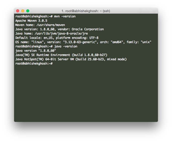 Install JDK 8 and Maven 3 on Ubuntu 14.04 (HP Cloud)