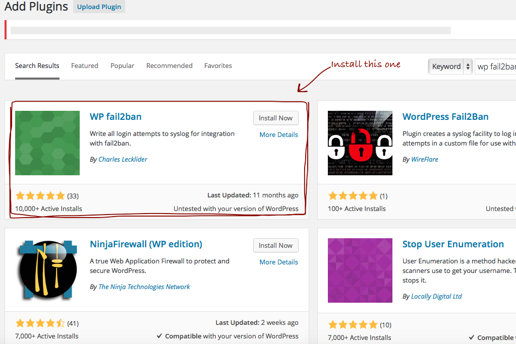 WordPress with Fail2Ban Plugin on Ubuntu, HP Cloud