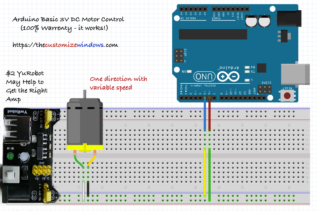 Arduino-Basic-3V-Motor-Control-Speed-Variation