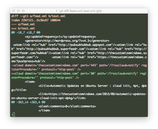 Colorful diff on Command Line OS X & GNU:Linux