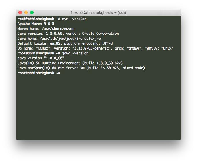 Install JDK 8 and Maven 3 on Ubuntu 14.04 (HP Cloud)