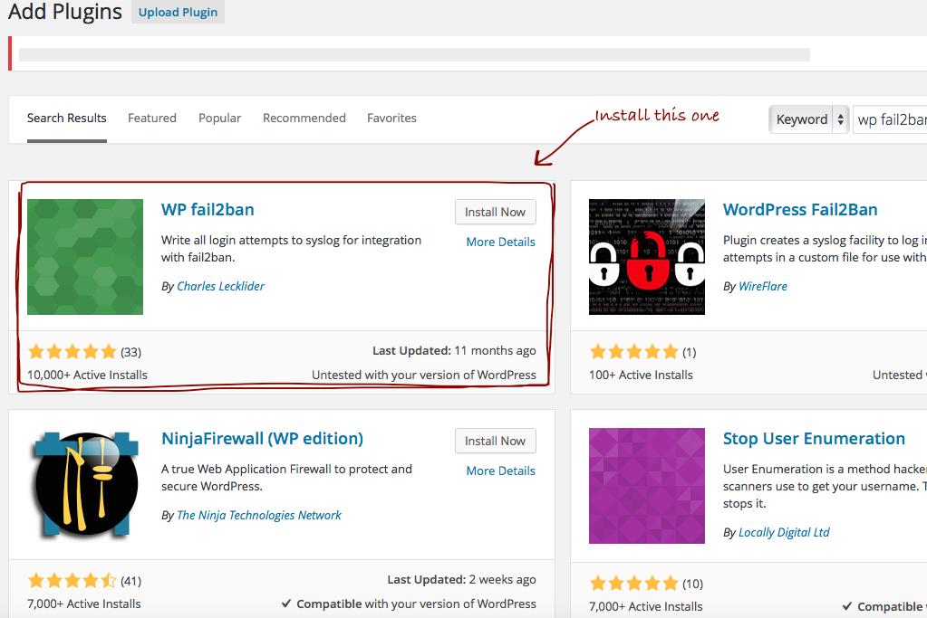 WordPress with Fail2Ban Plugin on Ubuntu, HP Cloud