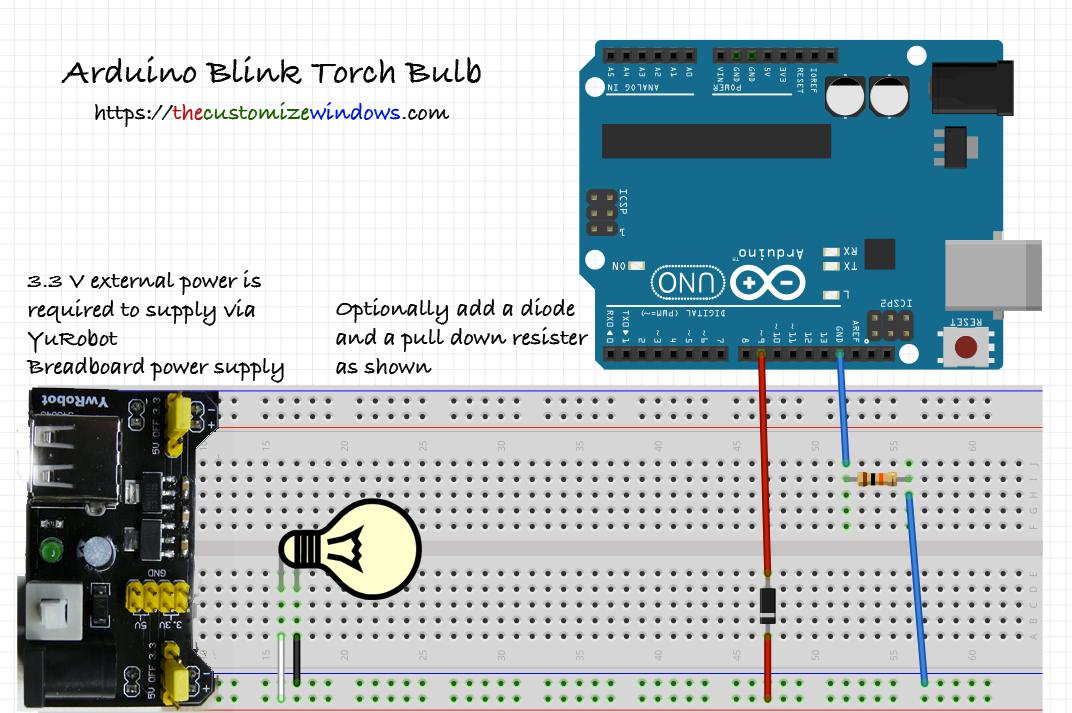arduino-blink-torch-bulb