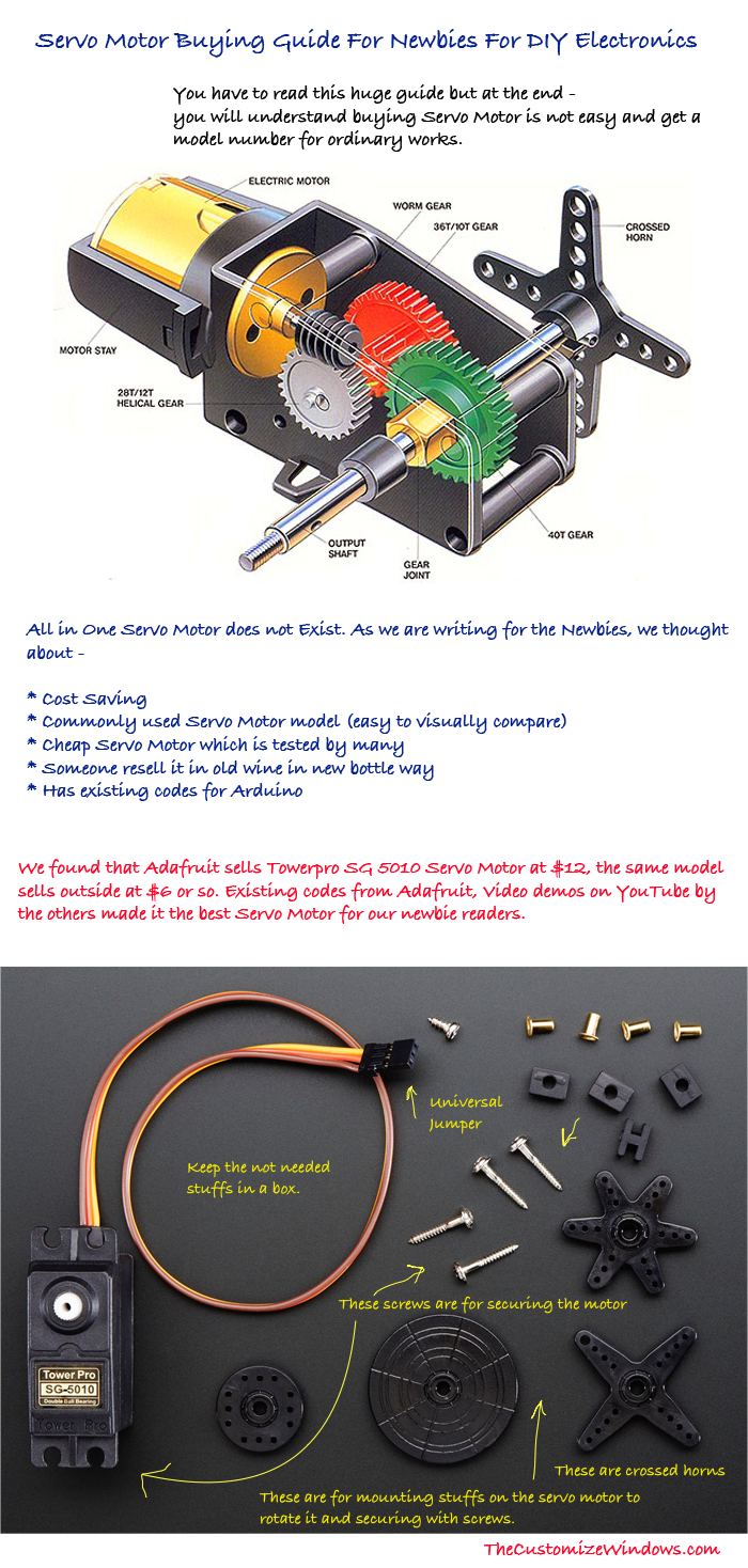 Servo Motor Buying Guide For Newbies For DIY Electronics