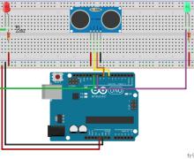 Light a Bulb With Arduino Ultrasonic Sensor HC-SR04