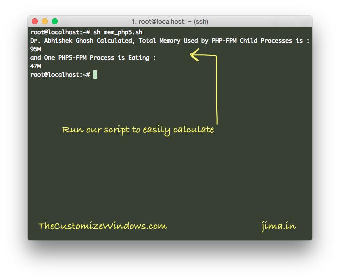 Optimize PHP5-FPM Memory Usage