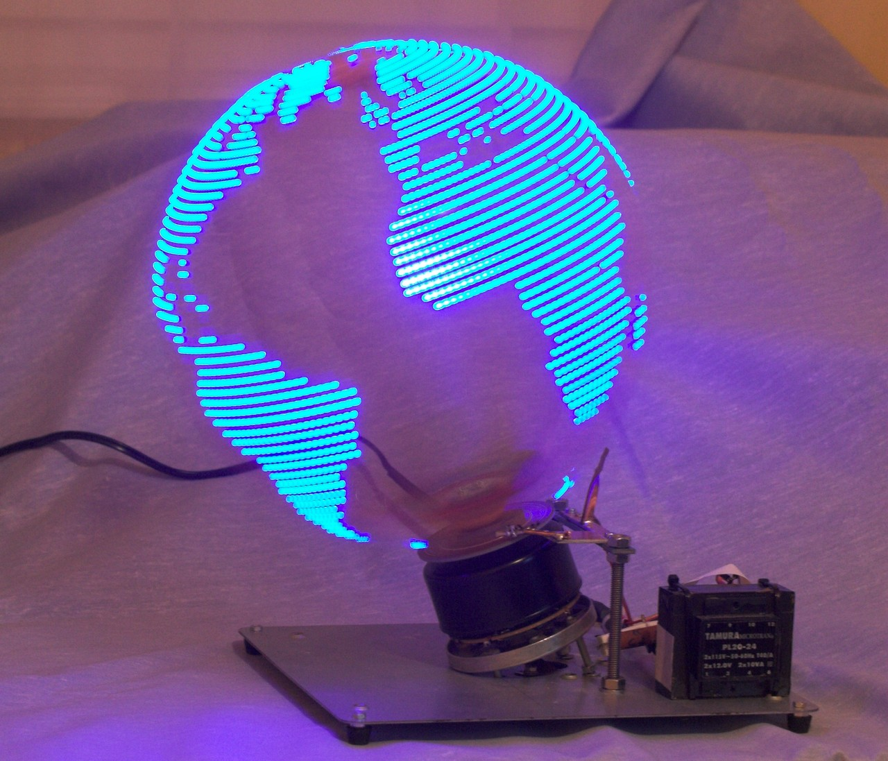 Persistence of vision in DIY Electronics