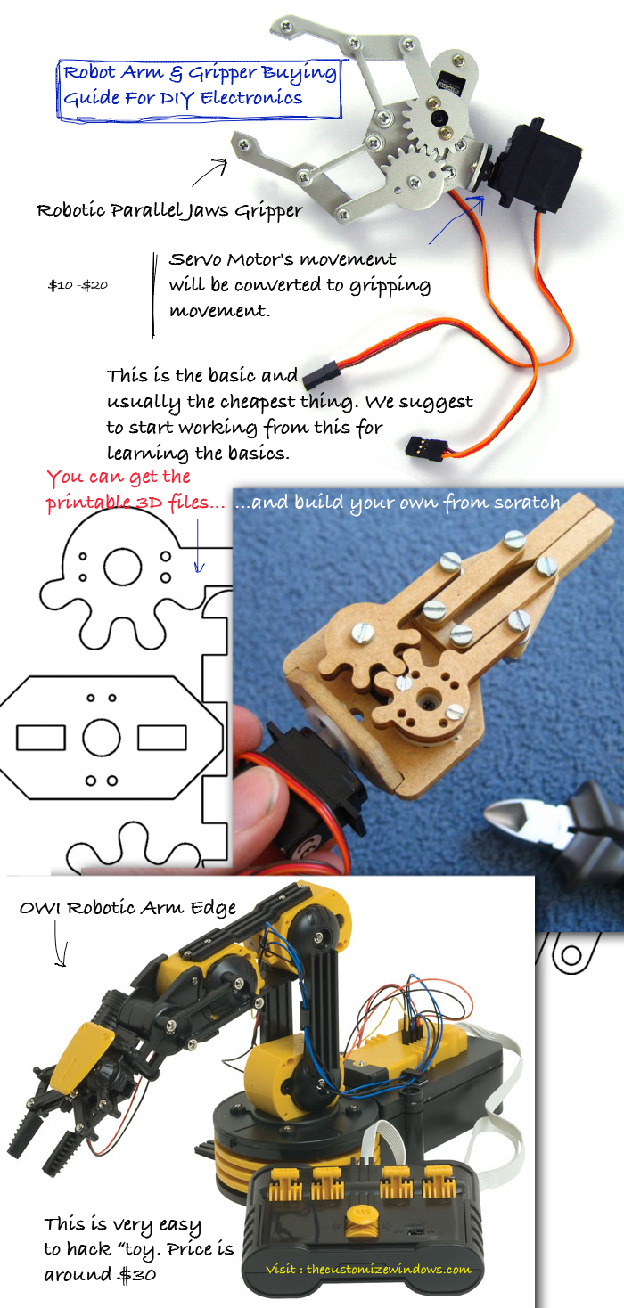 Robot Arm & Gripper Buying Guide For DIY Electronics