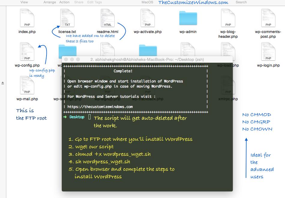 Bash Script to wget WordPress : Ready to Run the Installer