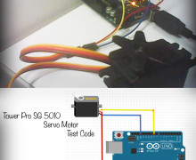 Tower Pro SG 5010 Servo Motor Test Code for Arduino