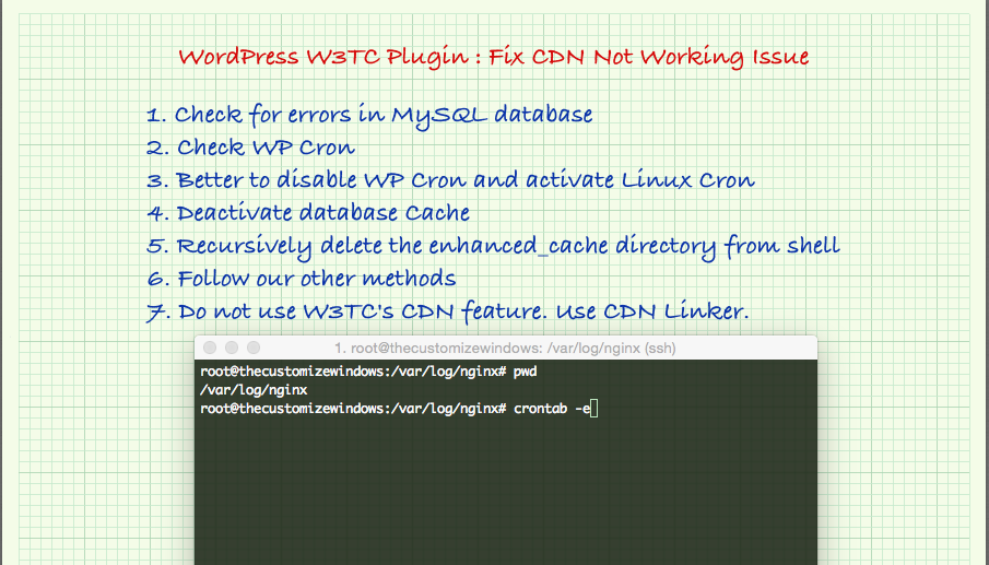 WordPress W3TC Plugin - Fix CDN Not Working Issue