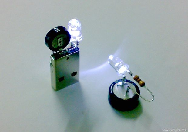 Simple Capacitor Circuit With One LED