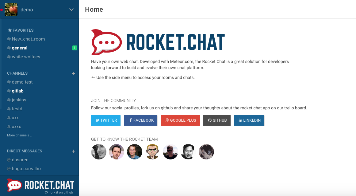 Steps to Install Rocket-Chat on Ubuntu 14-04 LTS