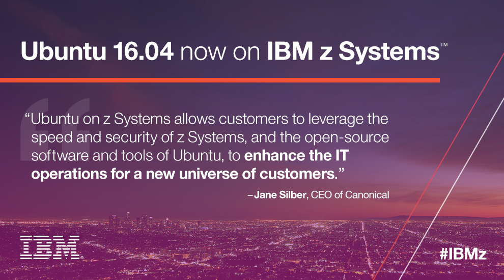 IBM Mainframe is Ready for Ubuntu & OpenStack