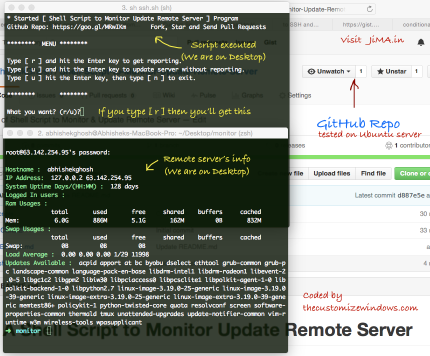 Shell-Script-to-Monitor-Update-Remote-Server