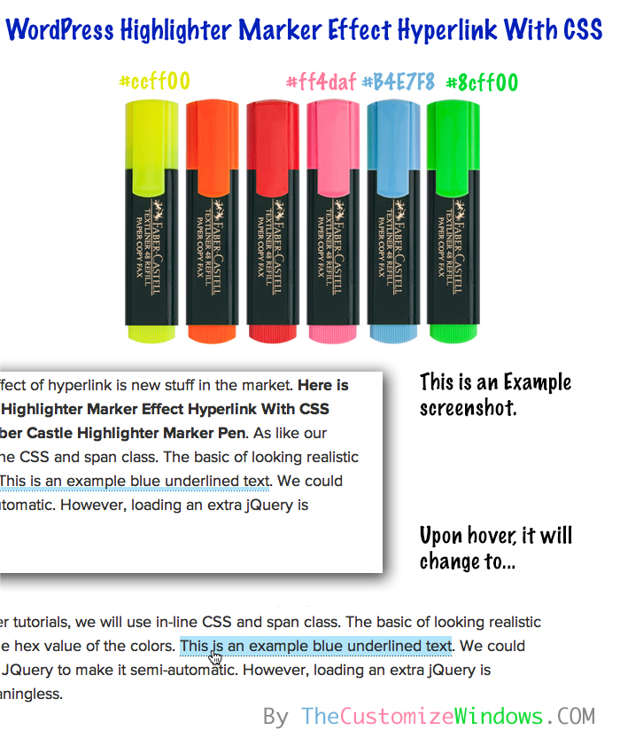 WordPress-Highlighter-Marker-Effect-Hyperlink-With-CSS