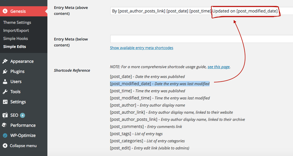 WordPress Genesis - Add Last Updated Rich Snippet