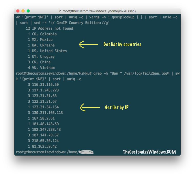 ssh-commands-for-fail2ban-log-analysis