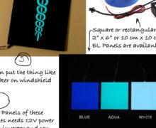 DIY Custom Design Glowing Symbol For Car Windshield