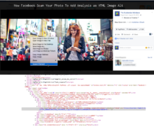 How Facebook Scan Your Photo To Add Analysis as HTML Image Alt