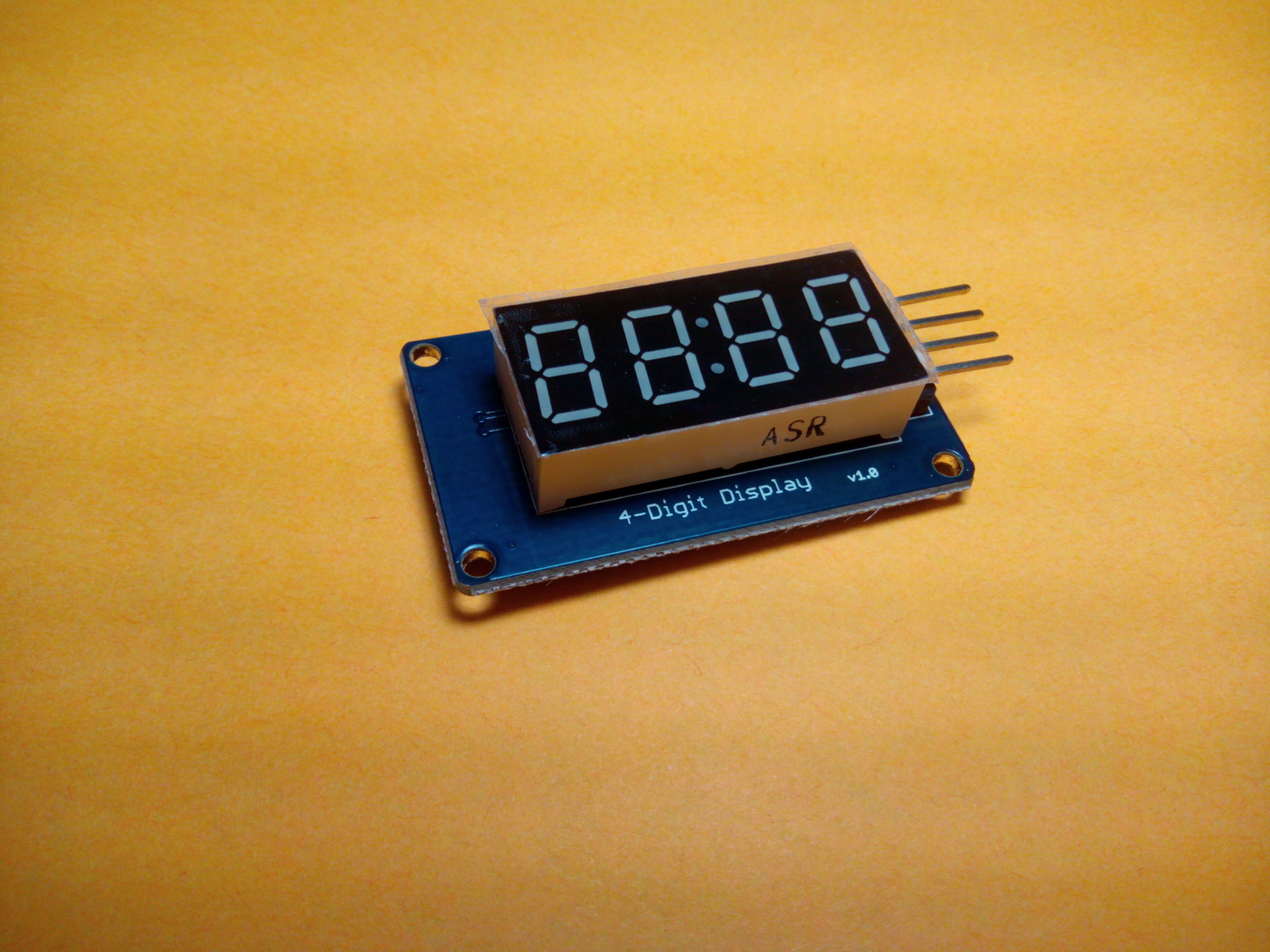 Arduino segment led display tutorial tm digit