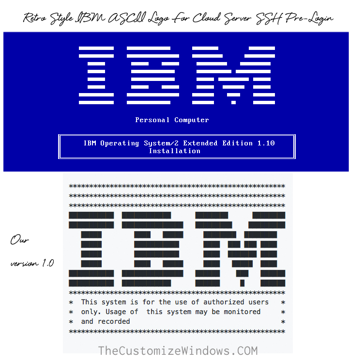 Retro-Style-IBM-ASCII-Logo-For-Cloud-Server-SSH-Pre-Login