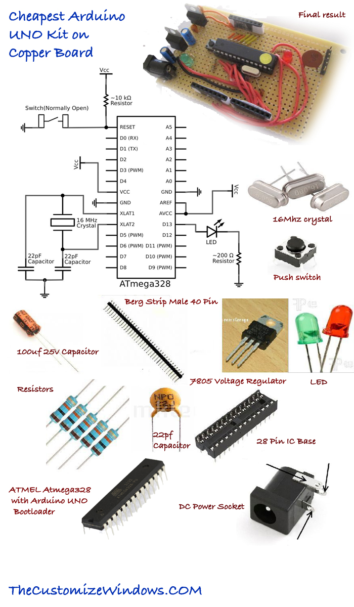 Cheapest-Arduino-UNO-Kit-on-Copper-Board