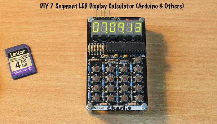 DIY 7 Segment LED Display Calculator Arduino & Others