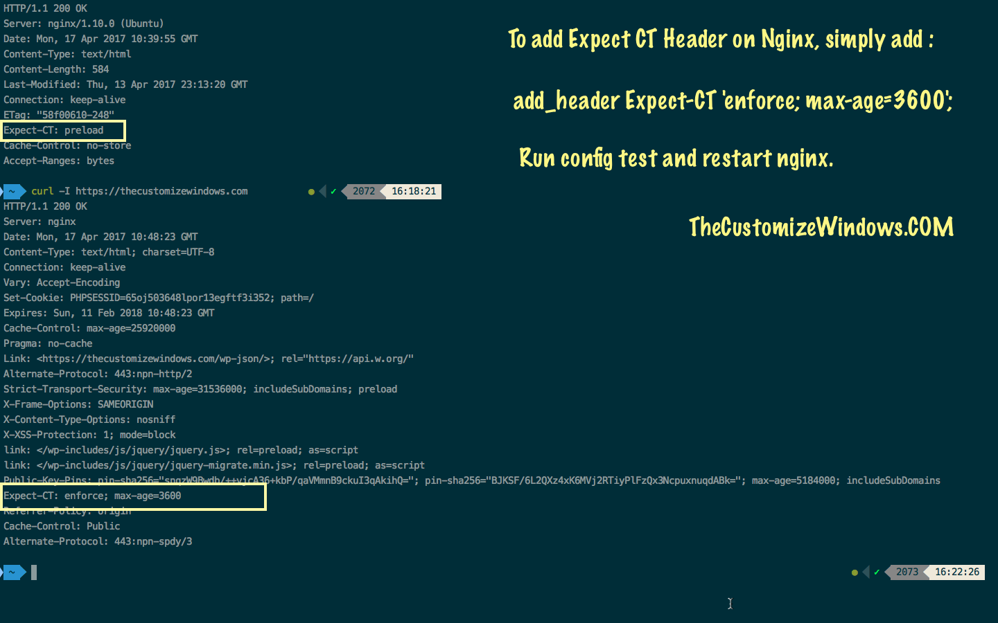 New Security Header - Expect CT Header Nginx Directive