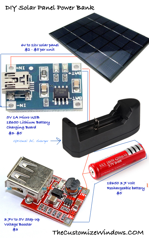 DIY-Solar-Panel-Power-Bank
