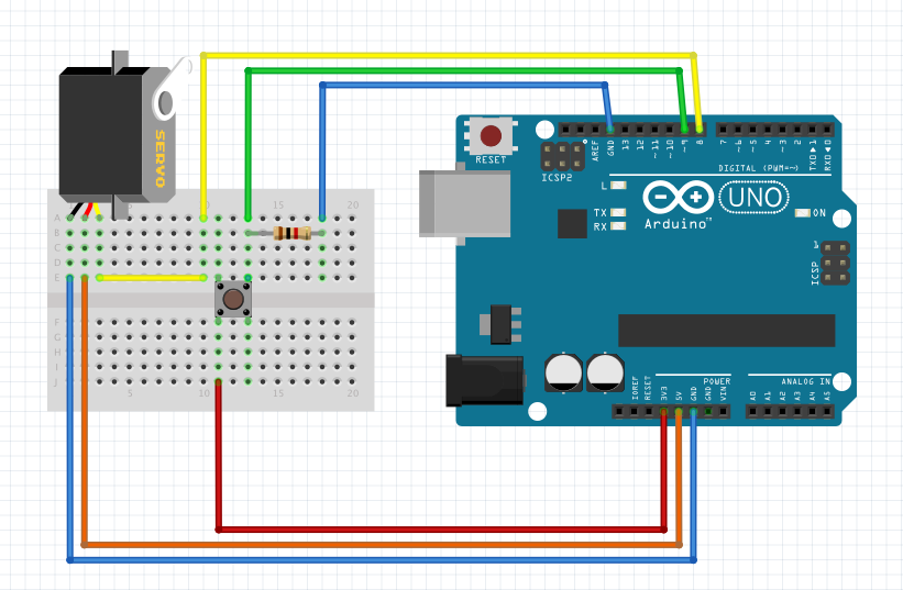 Arduino Servo Motor Control With Pushbutton