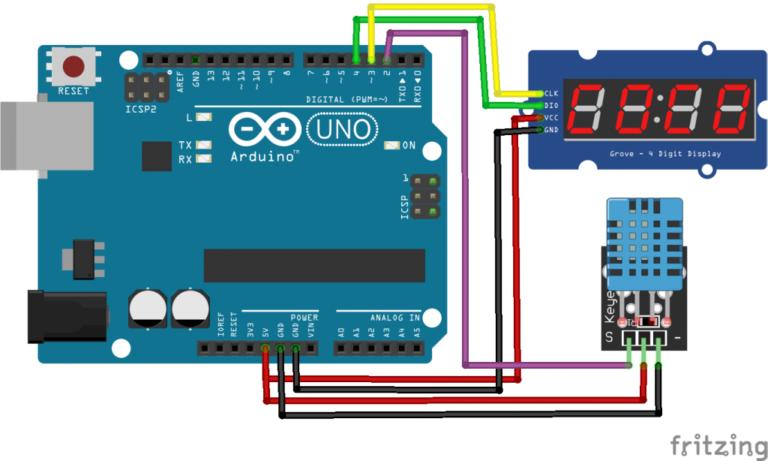 7 Segment 4 Digit LED Display SMA420564 using Arduino