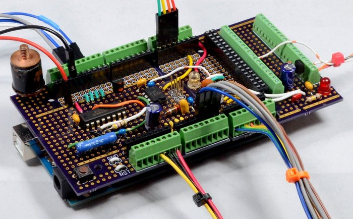 Securing Jumper Wire Connections - Prototyping Daugterboard