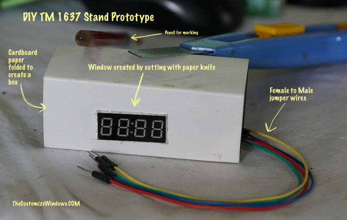 DIY Stand For TM1637 7 Segment LED Display Module