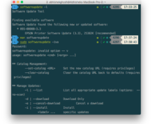 MacOS X Command Line Software Update & Disk Utility