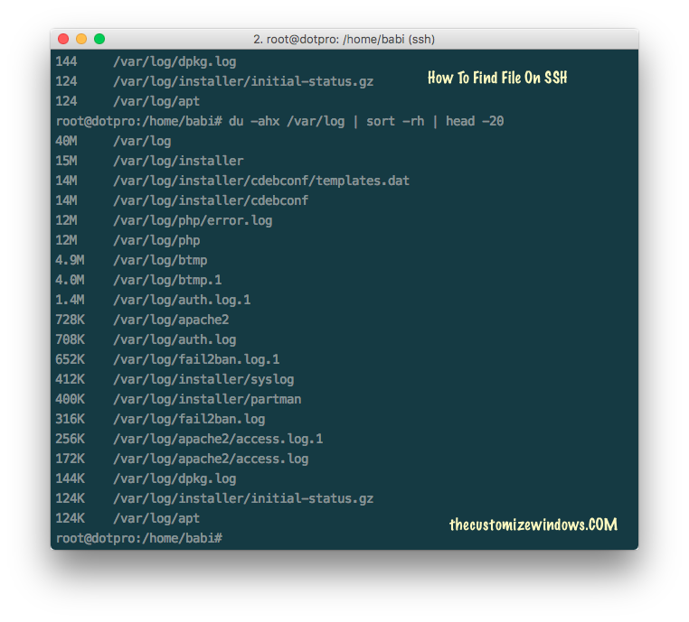 How To Find File On SSH