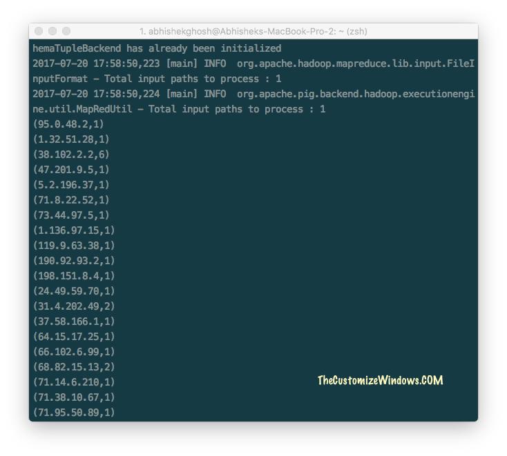 How To Process Server Log in Hadoop, Pig - Free IBM Analytics Demo Cloud