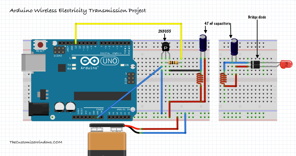 Arduino-Wireless-Electricity-Transmission-Project