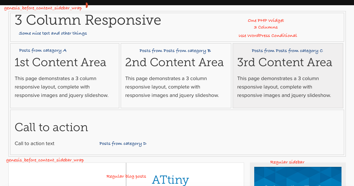 WordPress Genesis Homepage Semi-Static Customizable