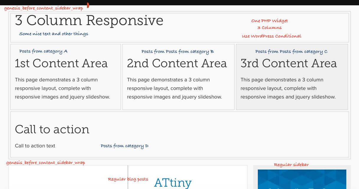 WordPress Genesis Homepage Semi-Static Customizable
