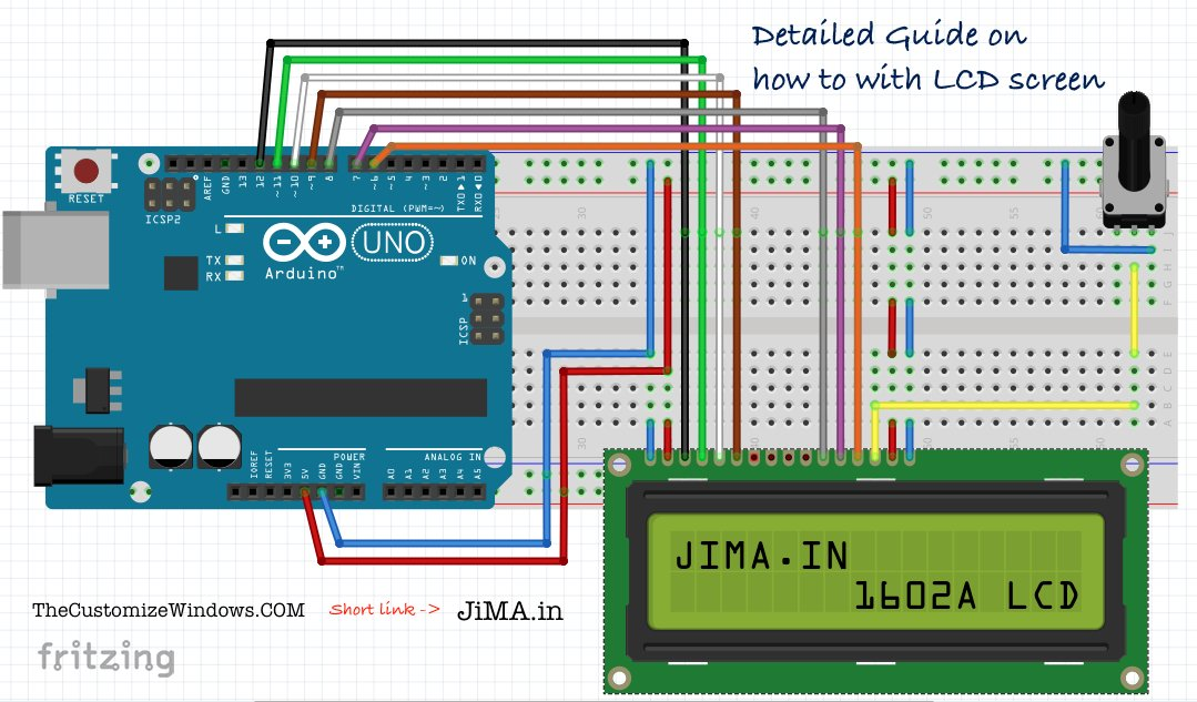 CONNECTING LCD DISPLAY TO ARDUINO UNO (Model 1602A)