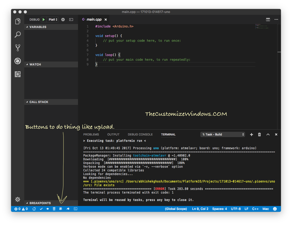 Setup Visual Studio Code on Mac For Debugging Arduino Part 3