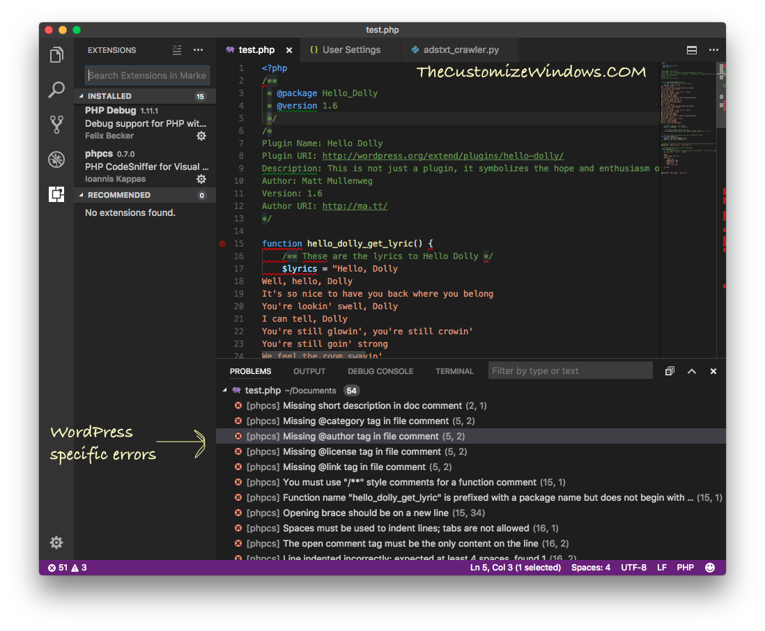 Setup Visual Studio Code on Mac For Debugging Arduino WordPress - Part 2