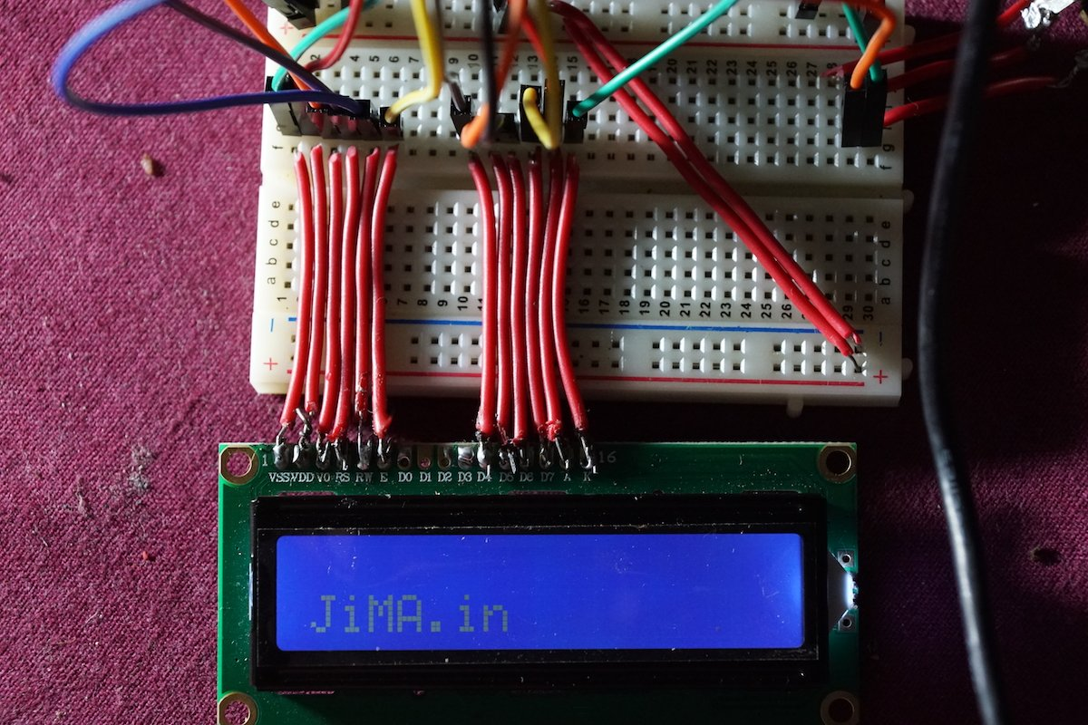 1602A LCD Display Arduino Connection (Blue Light White Text 16x2)