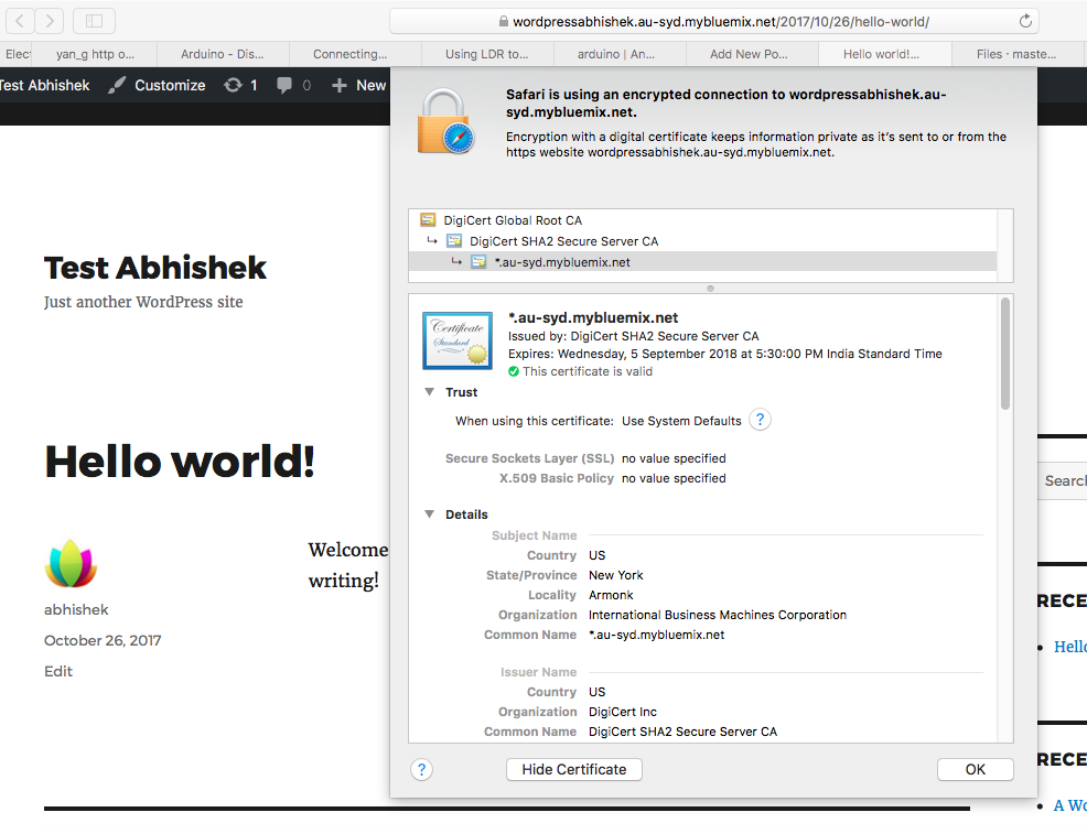 Install WordPress on IBM BlueMix - Easy Way Via Git