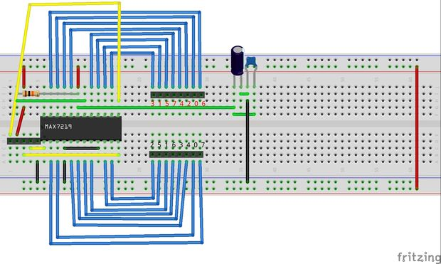 Arduino MAX 7219 CNG Circuit