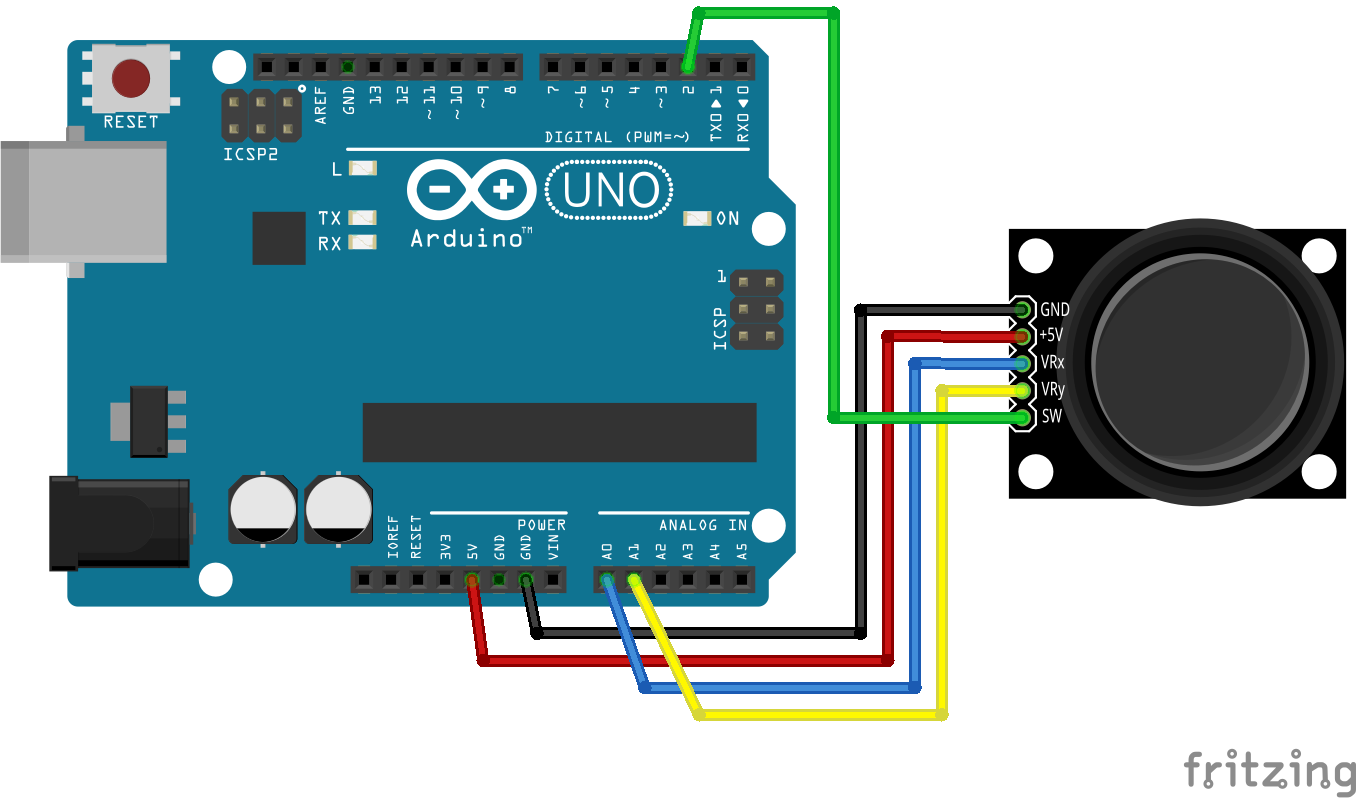 Connecting arduino with m joystick getting started