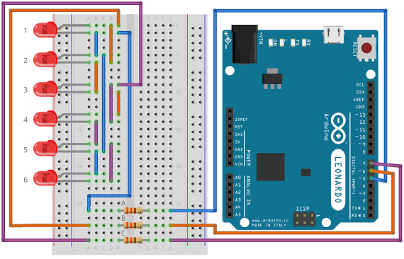 Multiplexing vs. Charlieplexing - Basics Example With Arduino