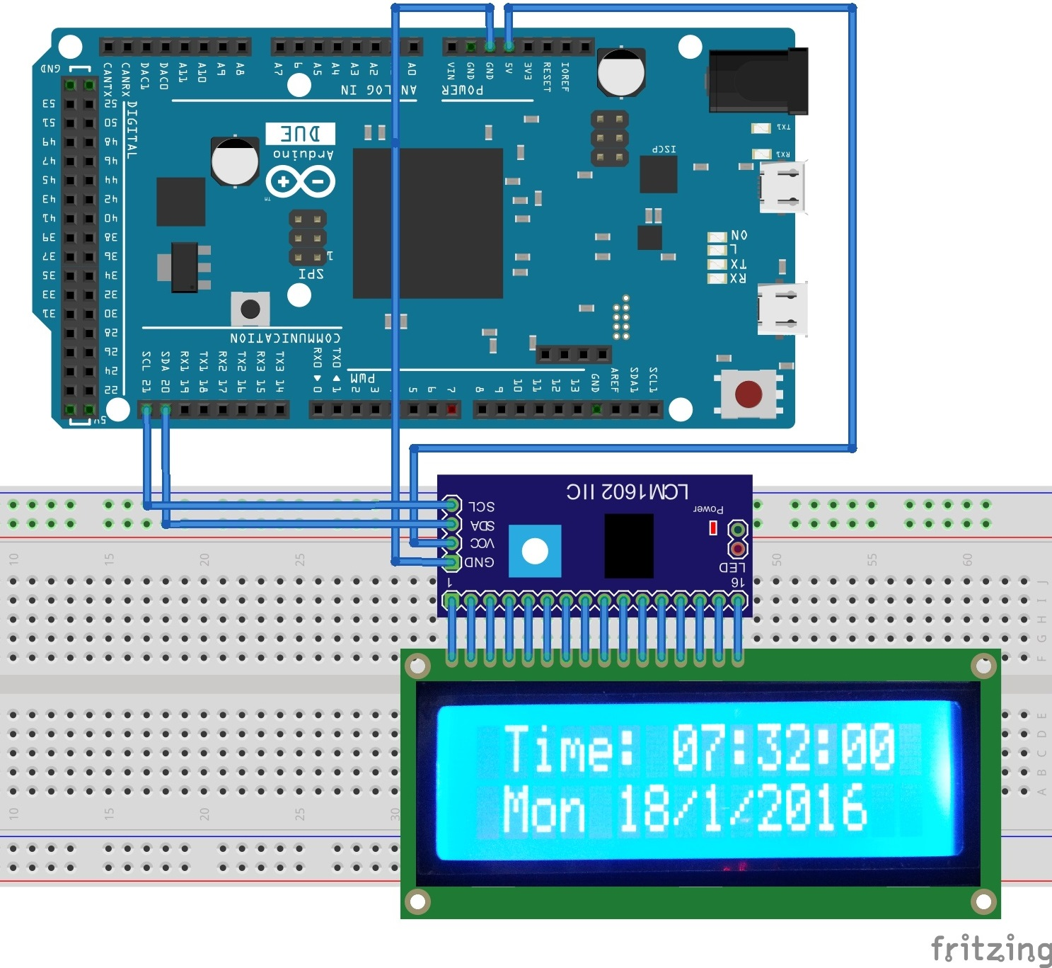 How To Convert LCD Display to LCD Serial Display For Arduino